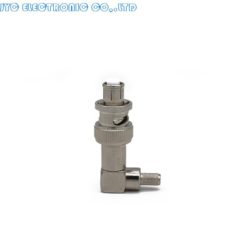 5000V BNC Male Connector SHV Male Plug Right Angle 90 Degree RG59 RG6 LMR195 Cable Coaxial Connector